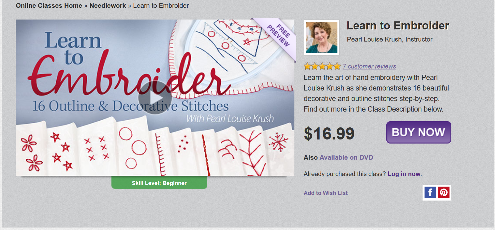 Online Embroidery Classes for Beginners - Swoodson Says