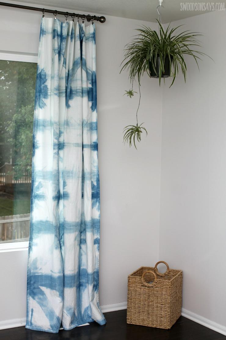 How To Make Indigo Dyed Curtains - Swoodson Says