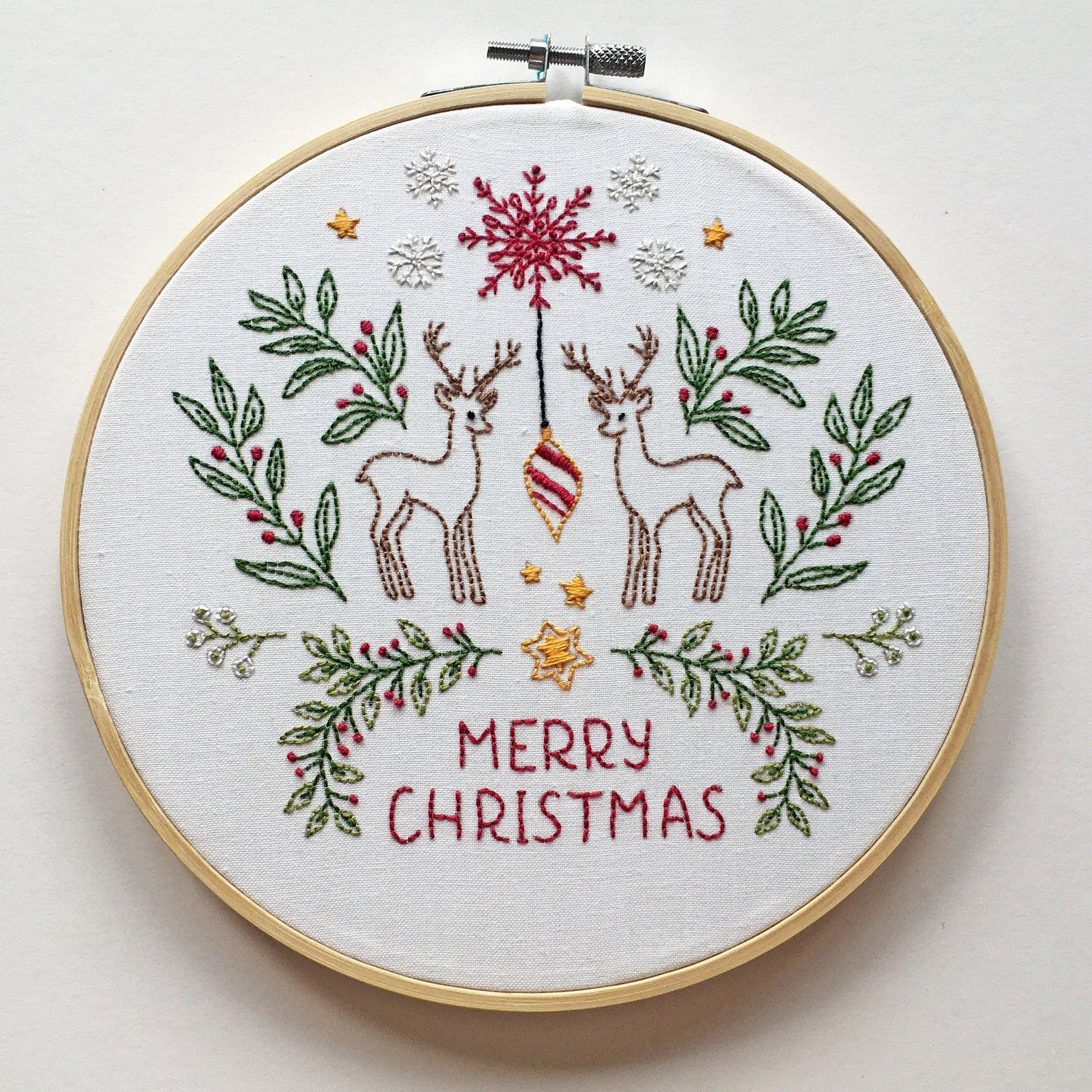 christmas embroidery kit