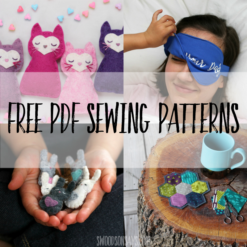 Free pdf sewing patterns to download, print, and sew! Free sewing patterns for kids, women, and home decor. #sewing