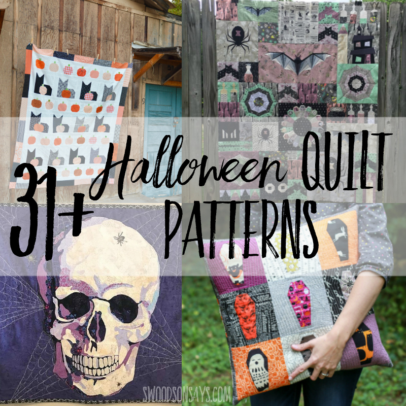 image about Free Printable Cat Quilt Patterns named 31 Impressive Halloween quilts - Swoodson Suggests