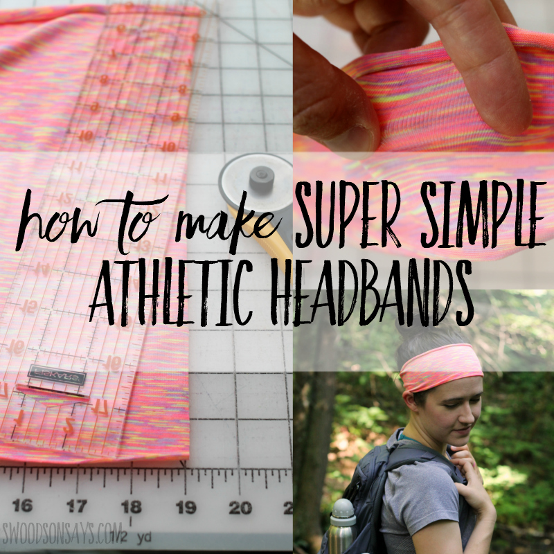how to make athletic headbands