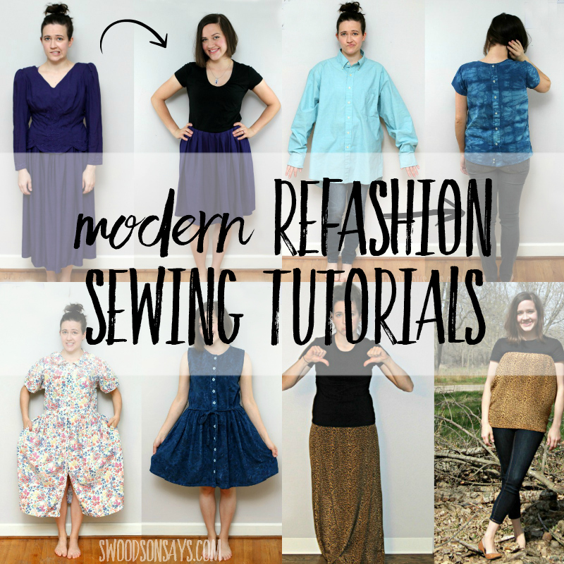 modern refashion sewing tutorials