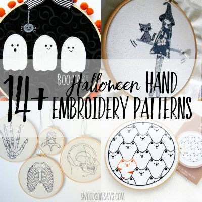 Halloween hand embroidery designs