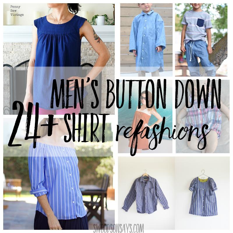 Men's button down shirt refashion ideas