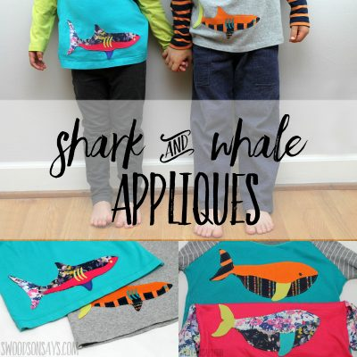 shark applique whale applique