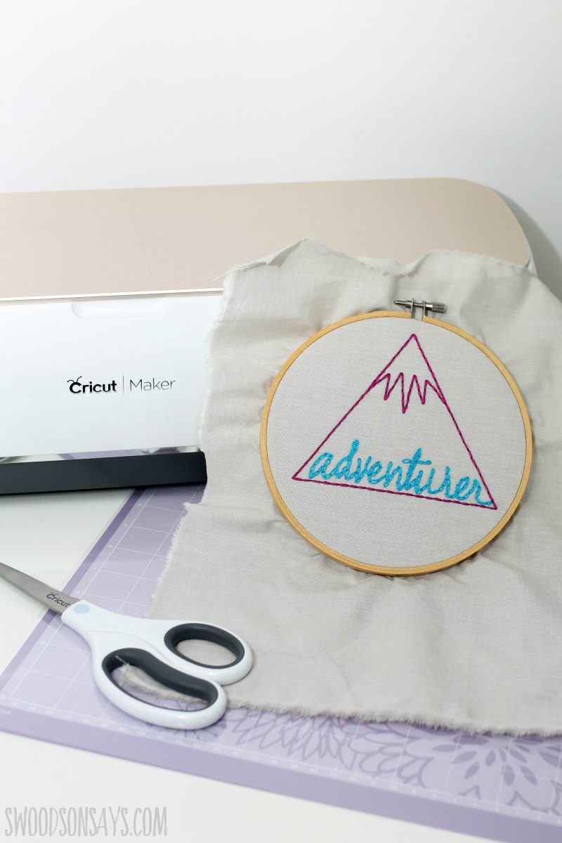 cricut maker hand embroidery