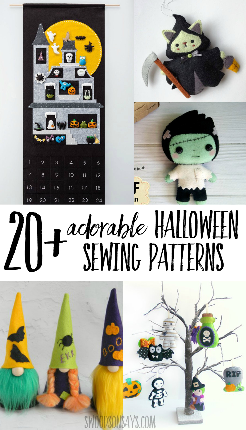 Check out these adorable Halloween stuffed animals and home decor sewing patterns! There is something spooky or sweet for everyone to make and love. #halloween #sewing #crafts