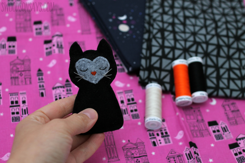 felt black cat free pattern
