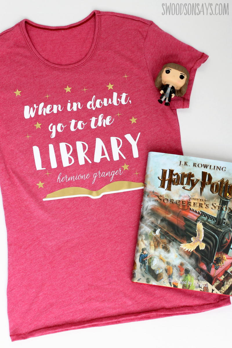 diy harry potter shirt hermione granger quote