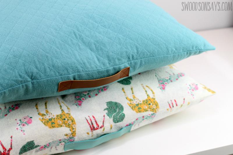 easy oversized pillow cover tutorial