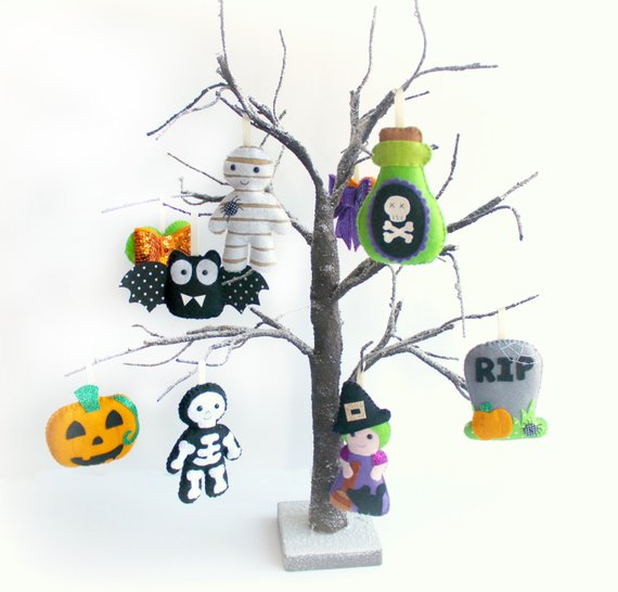 felt halloween ornaments pattern