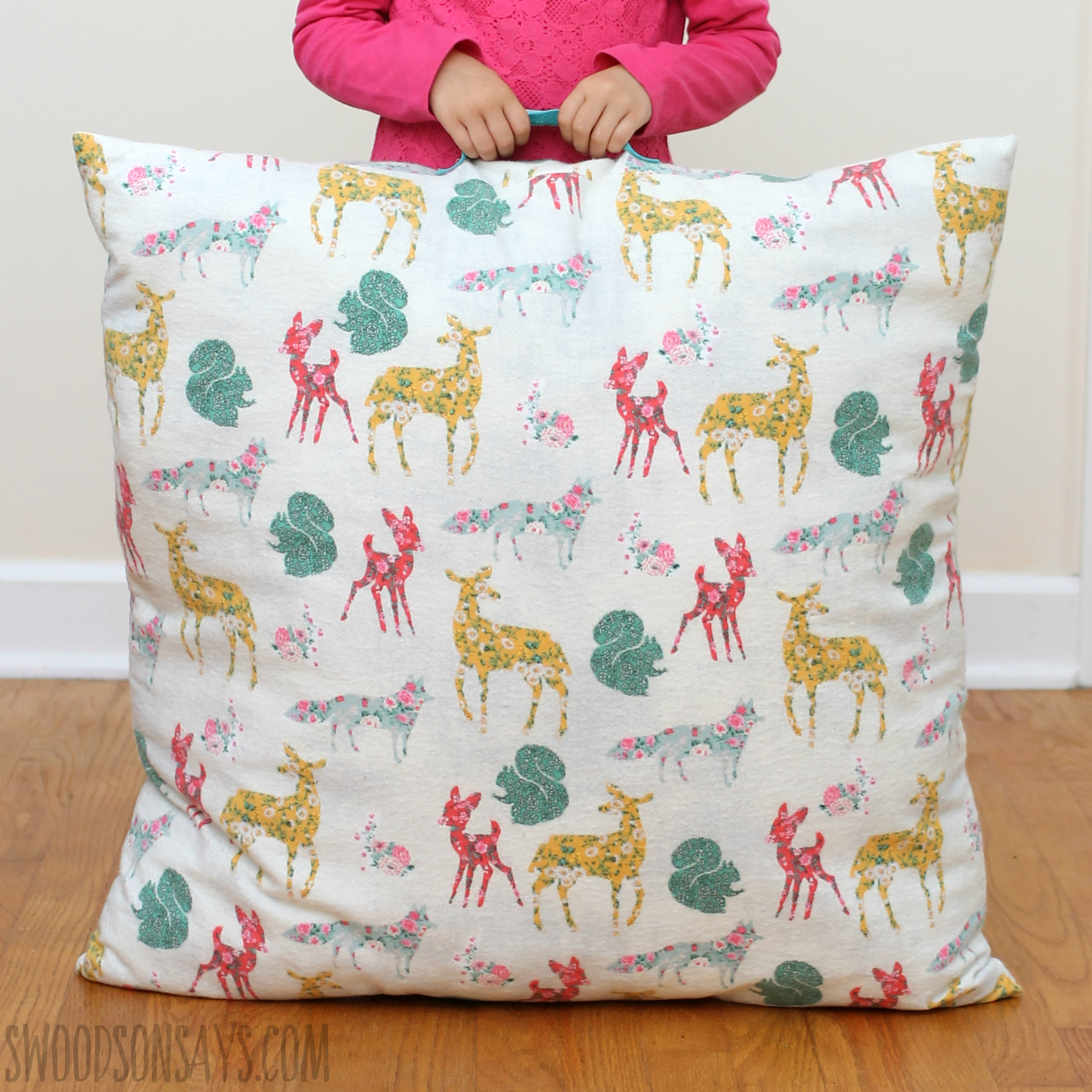 woodland animal flannel fabric