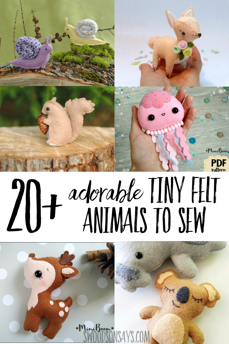 Super cute felt animal patterns to sew! These are the sweetest hand sewing projects, with all sorts of cute stuffed animal patterns to sew. #sewing #felt #handembroidery