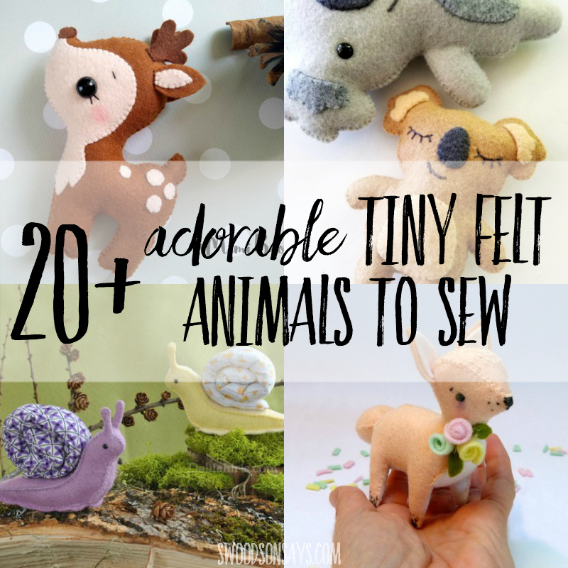 picture regarding Free Printable Stuffed Animal Patterns called The cutest felt pets routines in direction of sew! - Swoodson Suggests