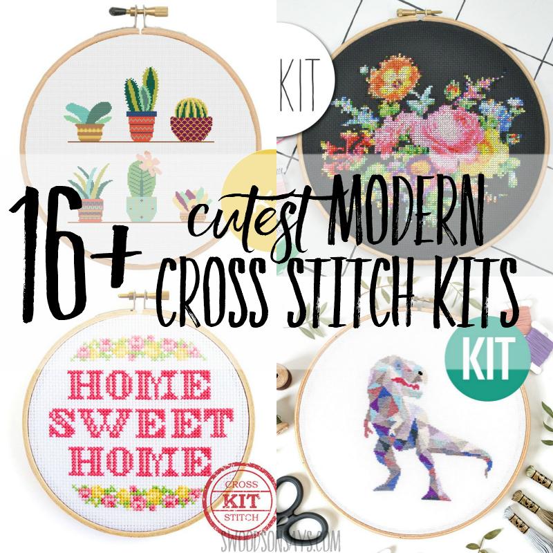Home Sweet Home Modern Cross Stitch Kit by Stitchering