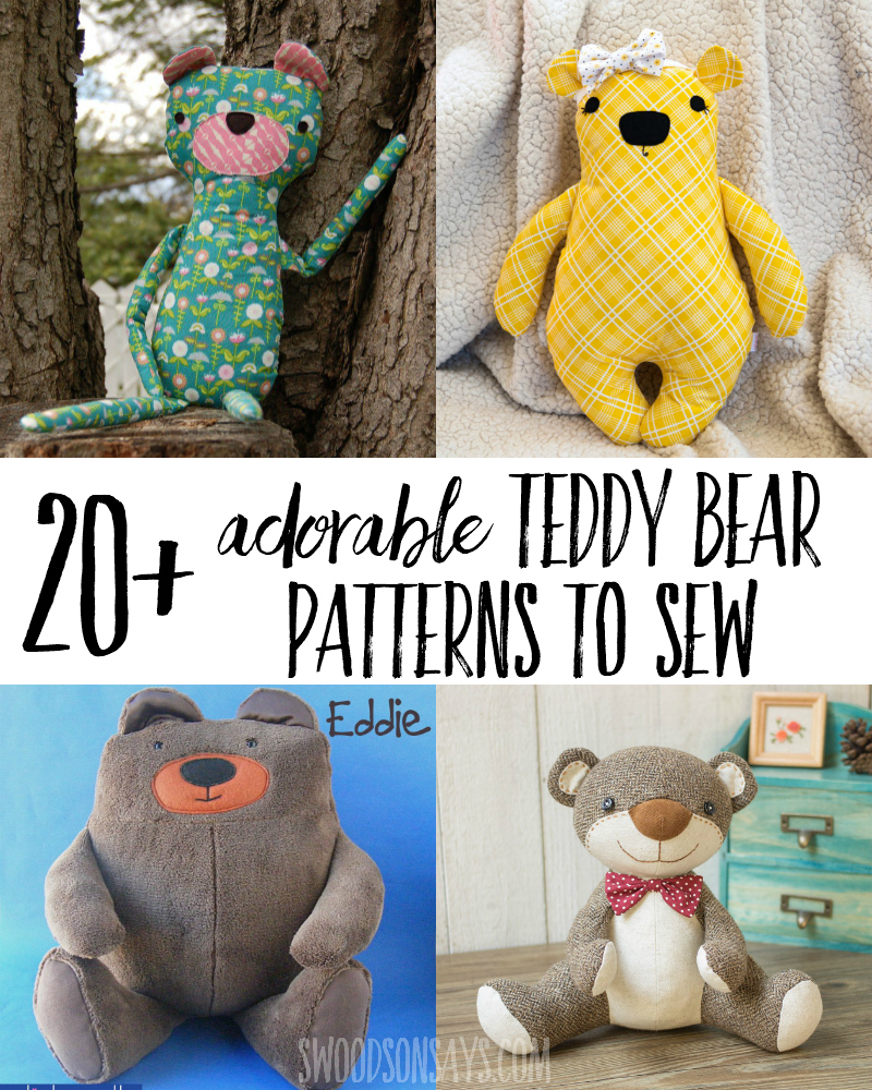 image about Teddy Bear Sewing Pattern Free Printable identified as 20+ of the cutest teddy endure sewing behaviors - Swoodson States