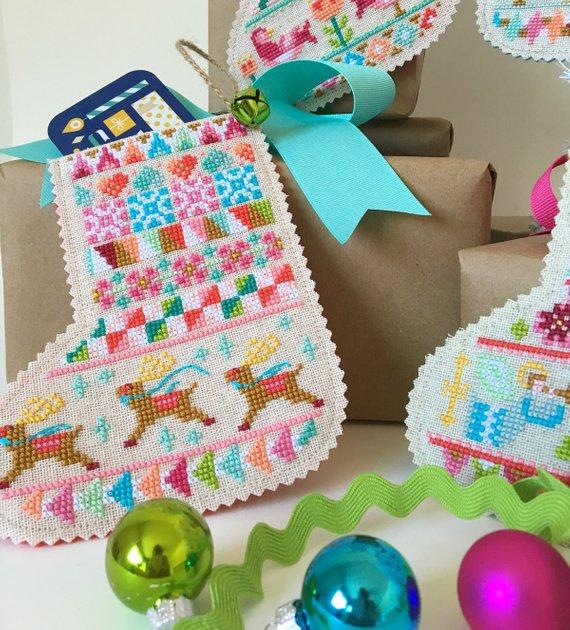 christmas cross stitch stocking pattern