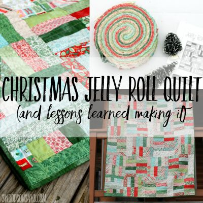 christmas jelly rolly quilt