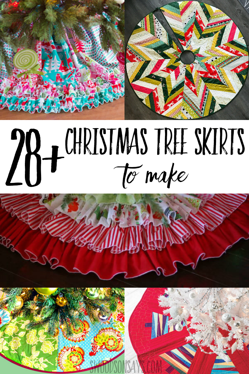 Get festive this year and make it a handmade holiday with these Christmas tree sewing patterns! A curated list of Christmas tree skirts to make with lots of styles and methods covered. #sewing #quilting #christmas