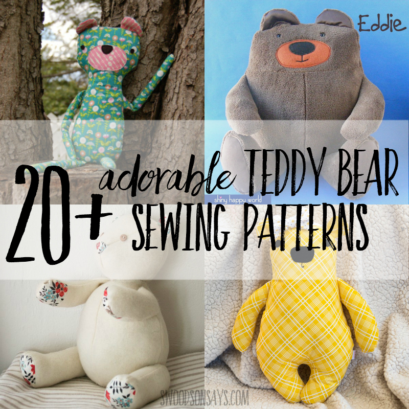 Cuddle Teddy Sewing PATTERN Bear for Beginners Simple Easy Craft Template