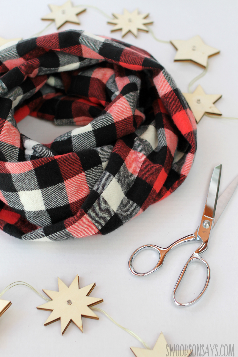 diy flannel full scarf