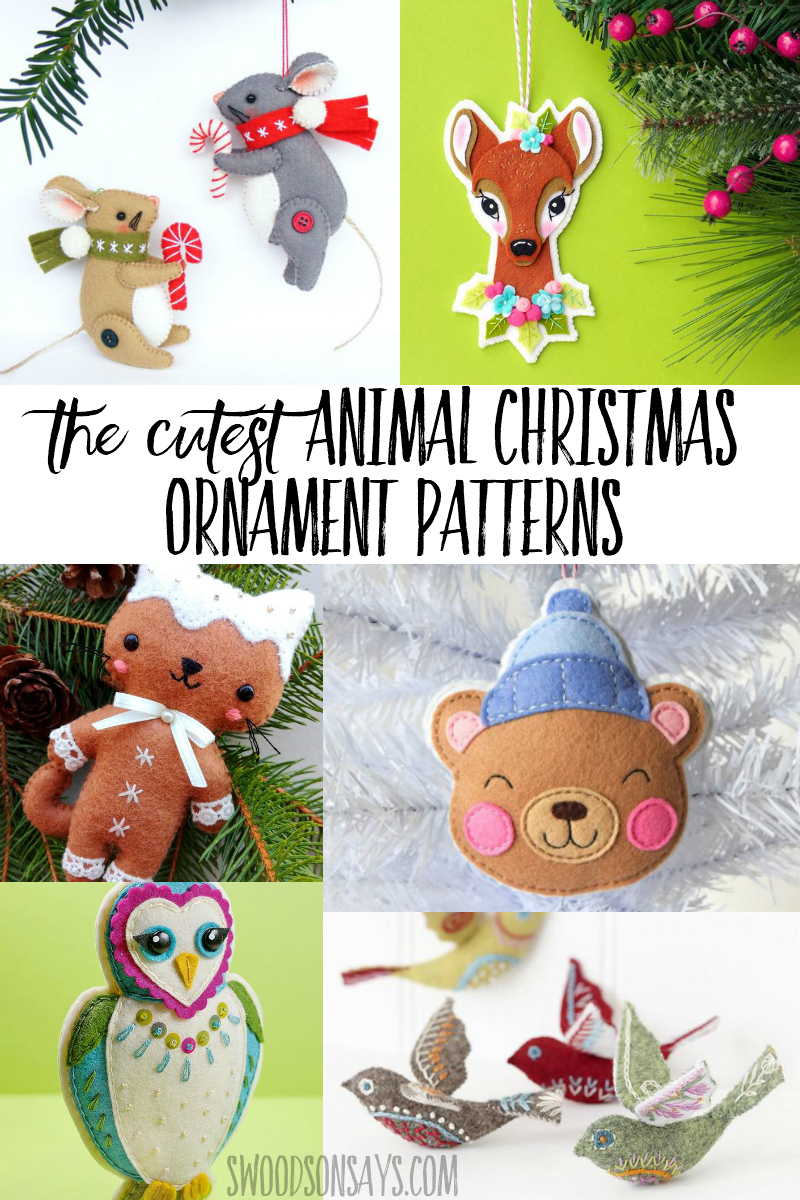 Deck your tree with handmade felt ornaments this year! Check out the cutest animal Christmas ornaments you can sew from felt. #sewing #handembroidery #christmas #christmascrafts