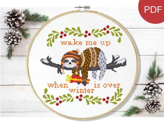 funny xmas cross stitch pattern