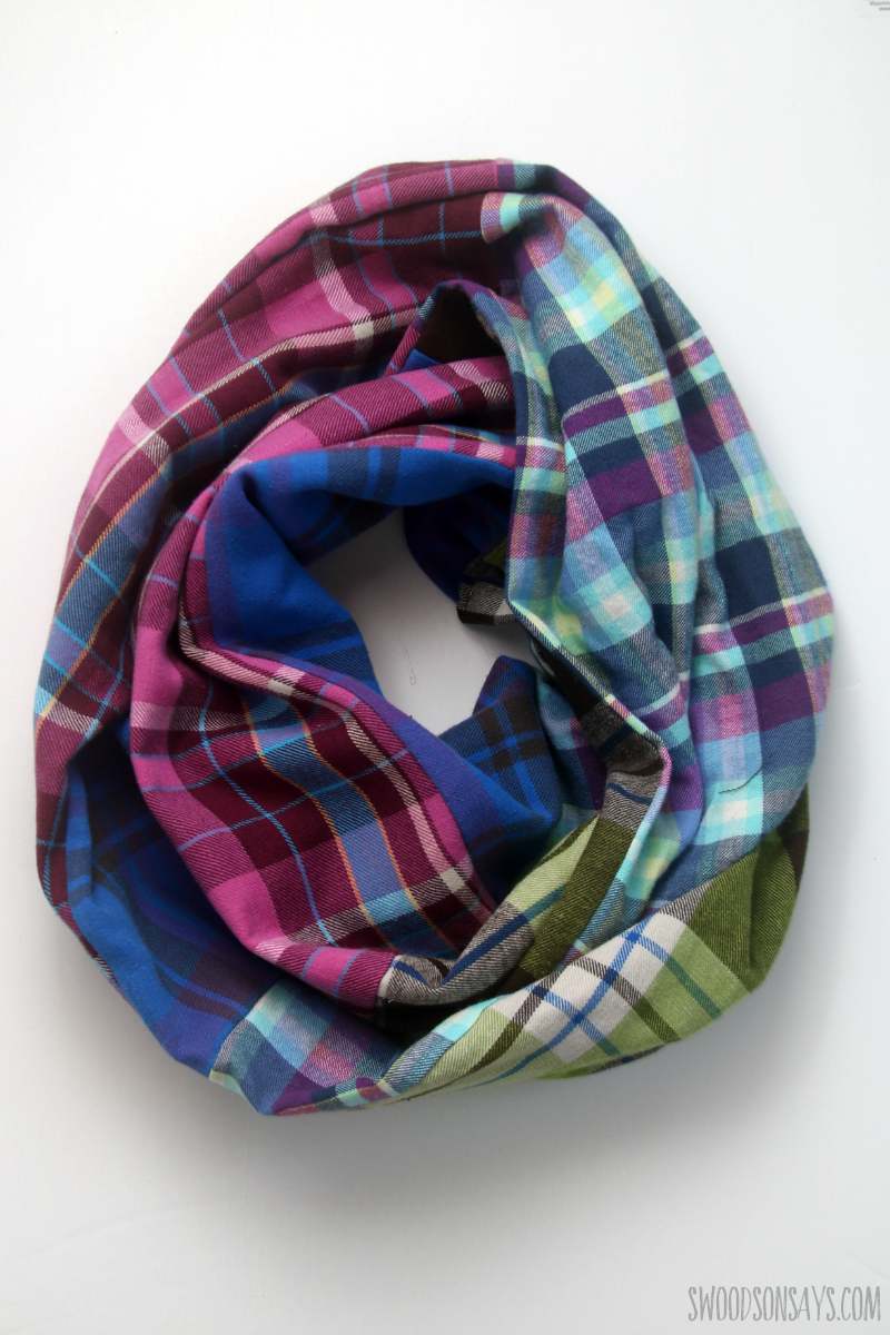 handmade flannel scarf tutorial