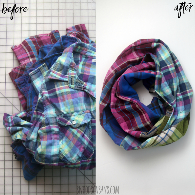 how to upcycle flannel shirt