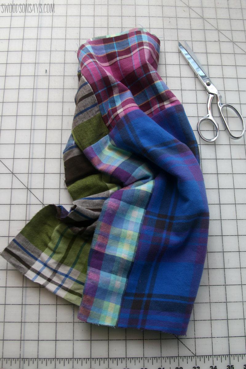 patchwork scarf sewing tutorial