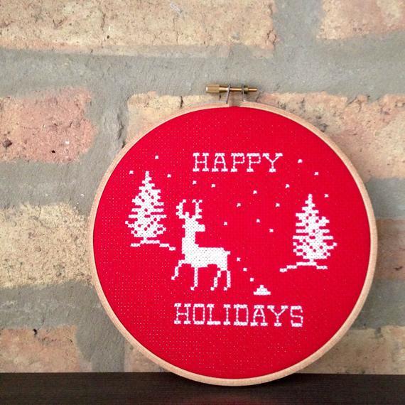 pooping reindeer cross stitch pattern