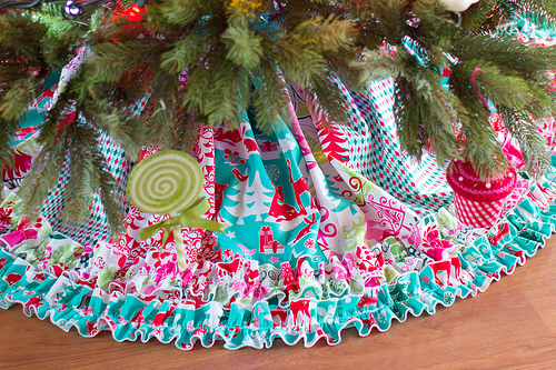 ruffled tree skirt sewing tutorial