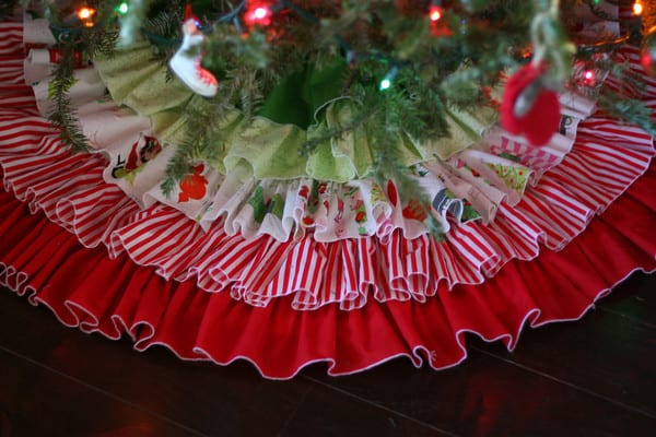 ruffled tree skirt tiers sewing tutorial