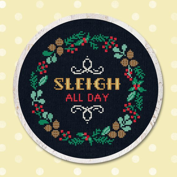 snarky christmas cross stitch pattern