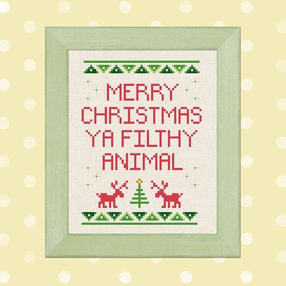 ya filthy animal cross stitch pattern