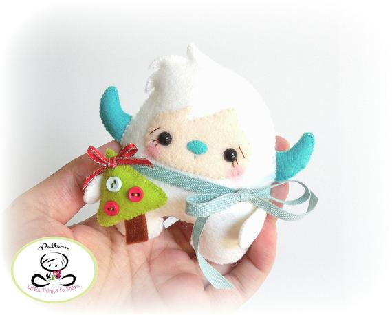 yeti ornament sewing pattern