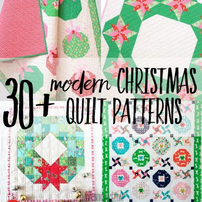 30+ modern Christmas quilt patterns