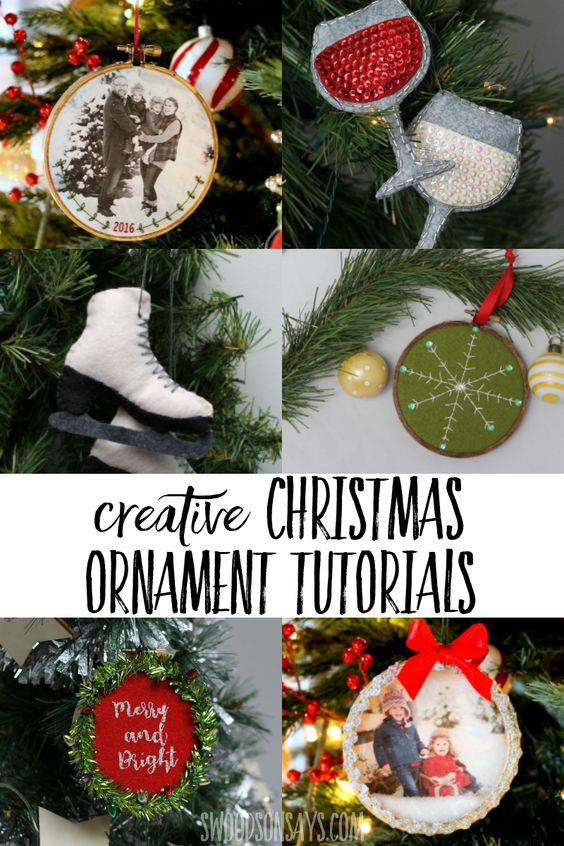 Check out the creative Christmas ornament tutorials, free Christmas ornament sewing patterns, and Christmas craft inspiration for your handmade holiday. #crafts #christmas
