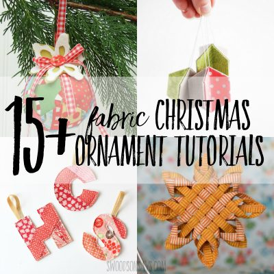 fabric Christmas ornaments tutorials