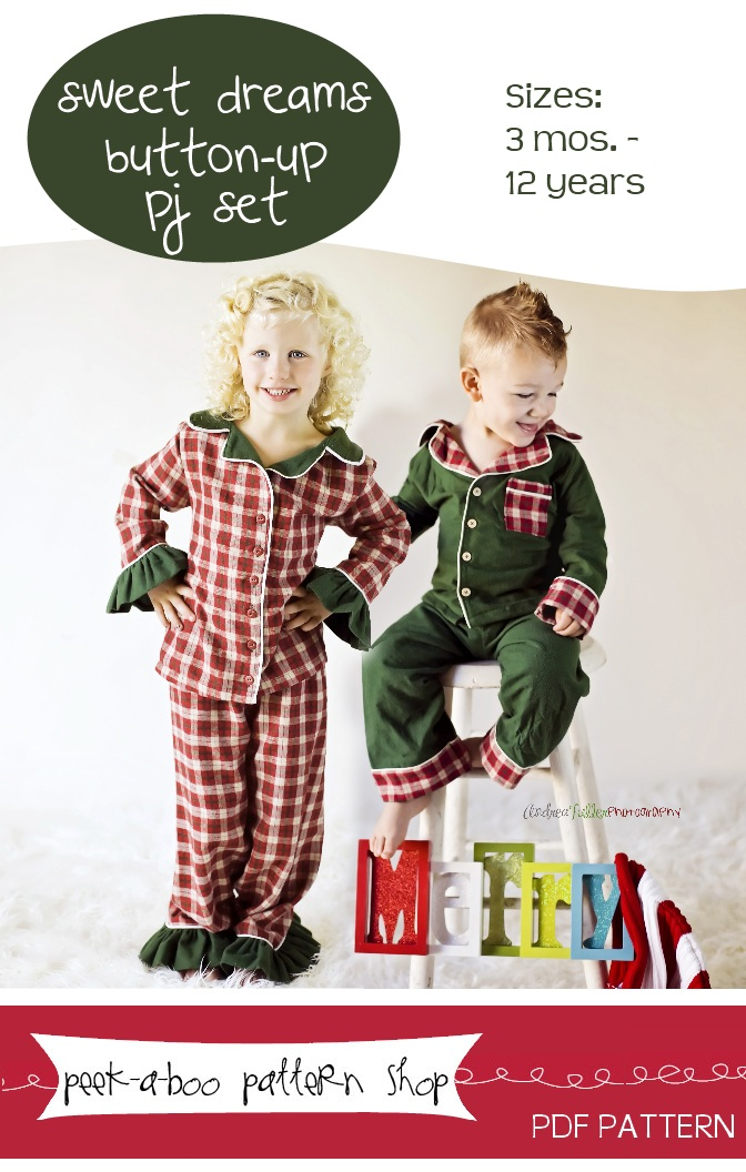 flannel kids pajama sewing pattern