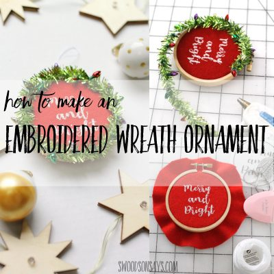 free embroidery ornament tutorial