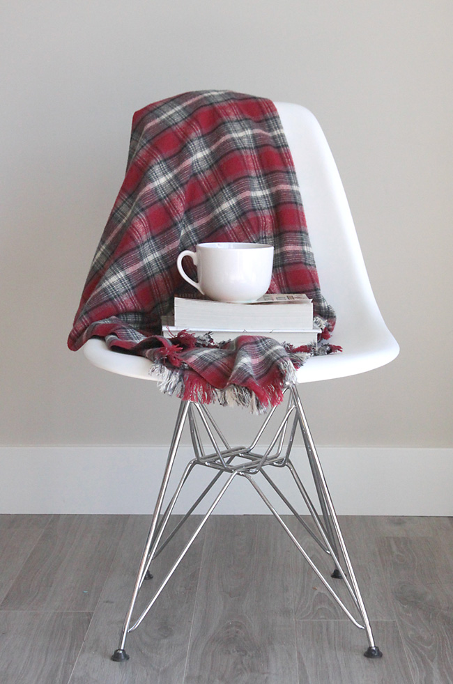 fringed flannel throw tutorial