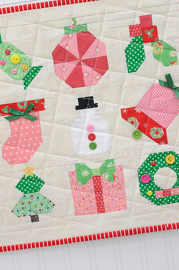 holly jolly christmas quilt pattern mini