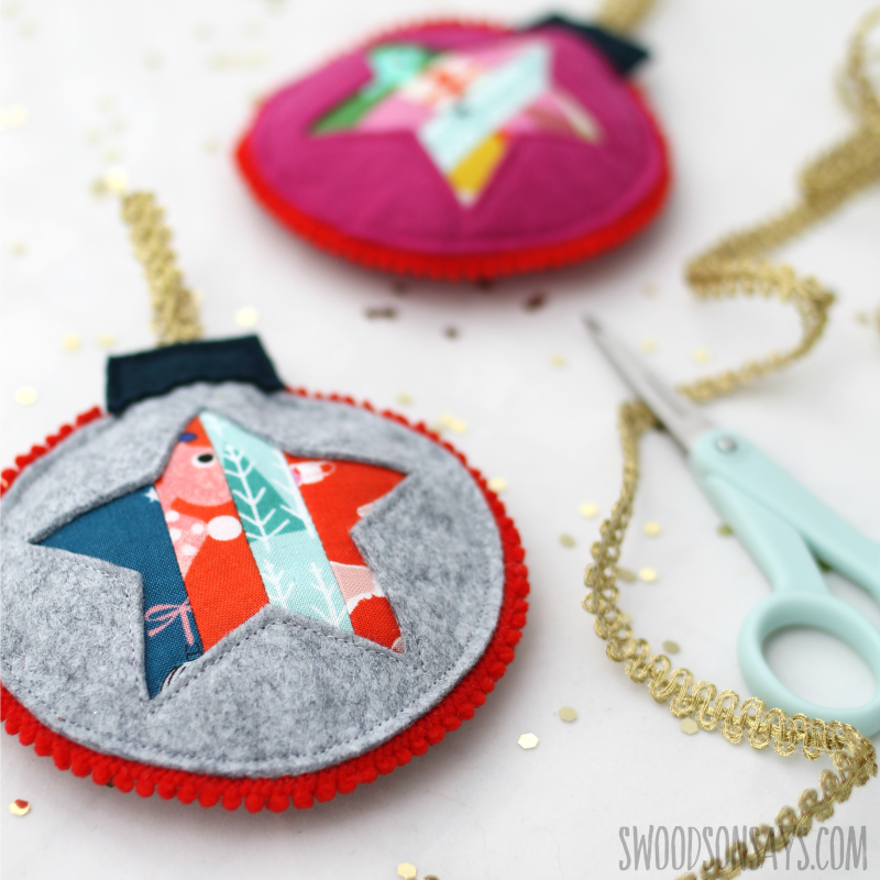 quilting cotton scrap ornament diy