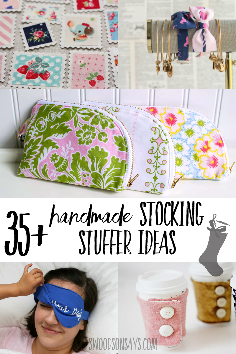 Skip the junky filler and sew your stocking stuffer gifts this year! Over 35 free sewing tutorials & patterns that are small enough to fit inside as a Christmas gift. #sewing #christmascrafts #stockingstuffer #diy #crafts