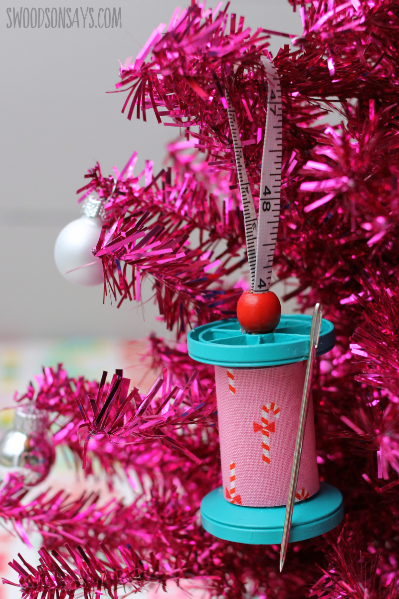 fabric scrap ornament