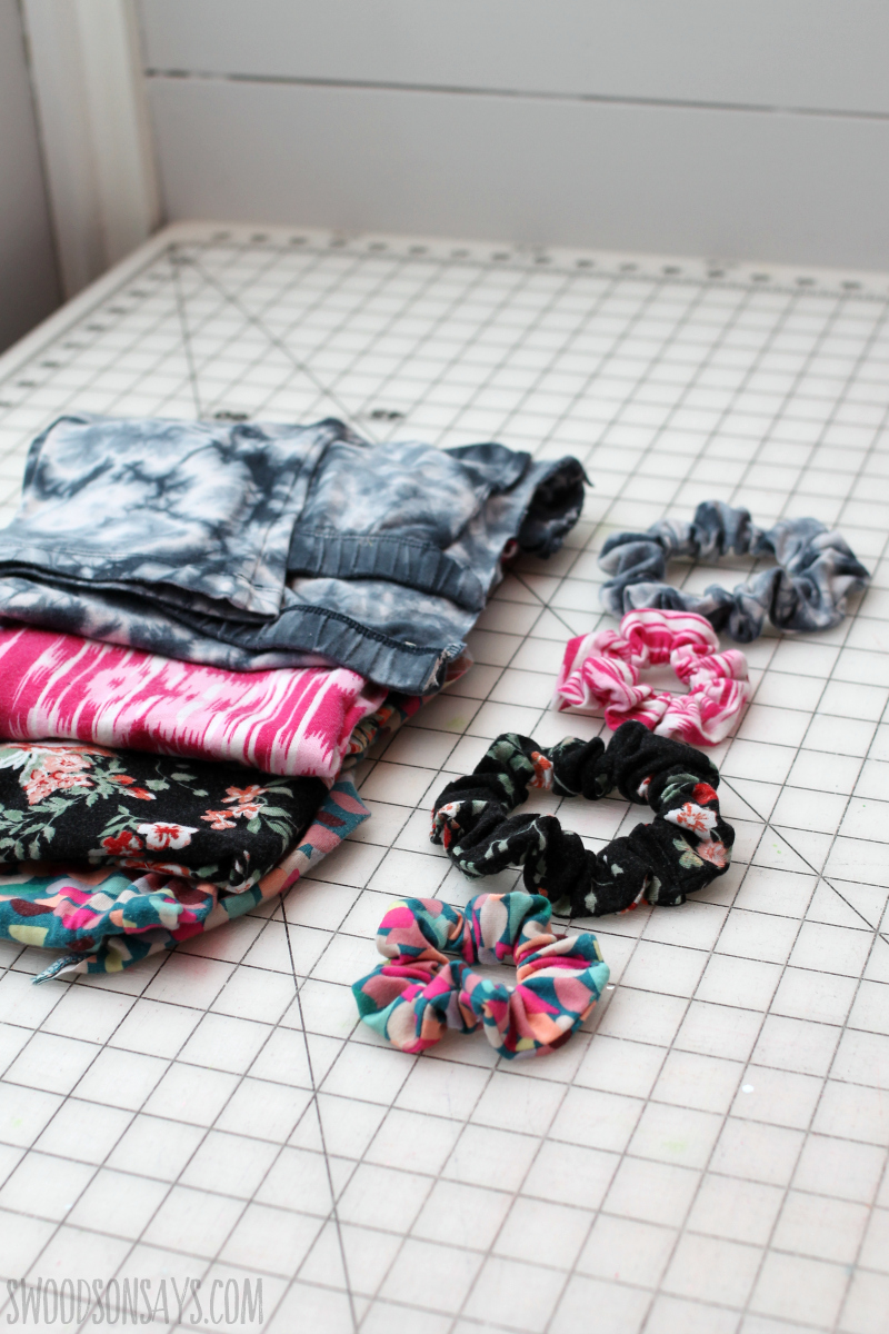 upcycled scrunchies (2)