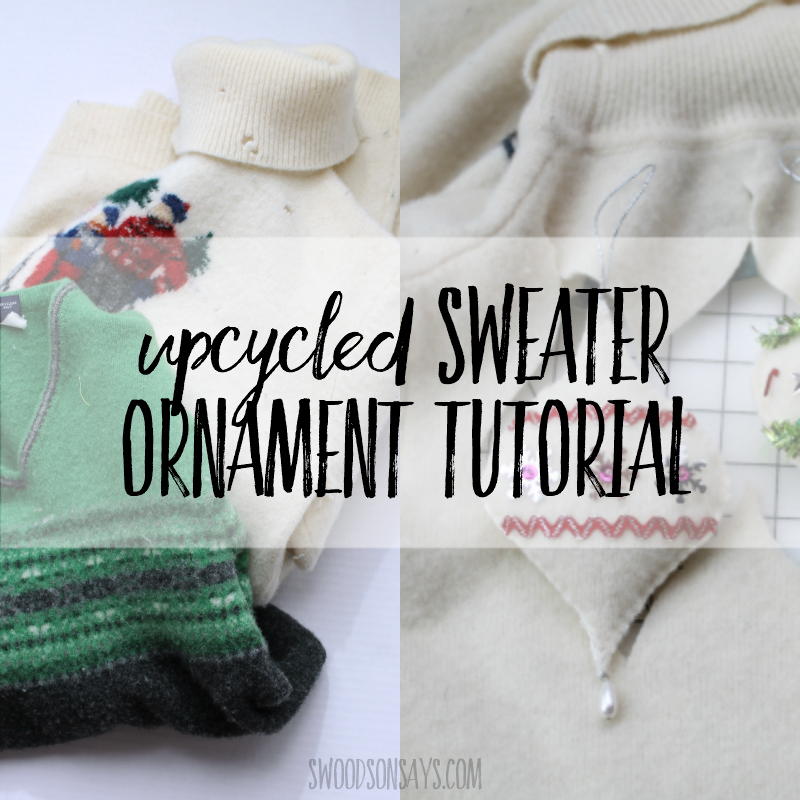 upcycled sweater ornament tutorial