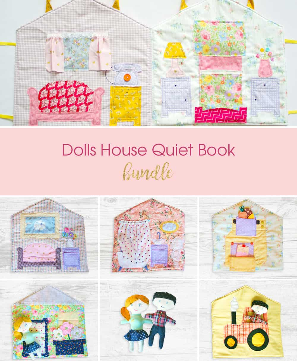 doll house quiet book sewing pattern